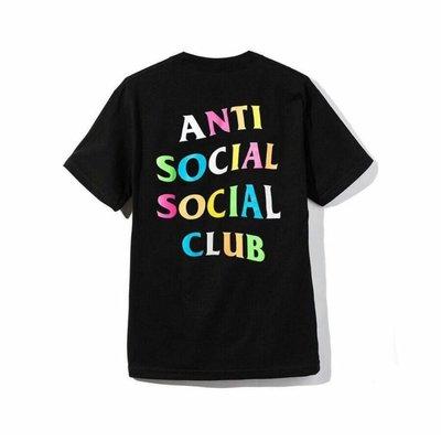 現貨 - Anti Social Social Club ASSC x Frenzy 黑底 黑色 彩虹 短T
