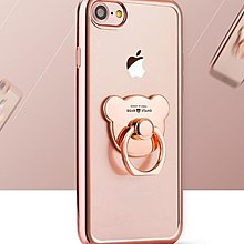 OPPO R9 Plus 電鍍TPU 指環 支架 可愛 小熊 保護套 TPU 矽膠 軟殼 玫瑰金 手機殼 手機保護殼