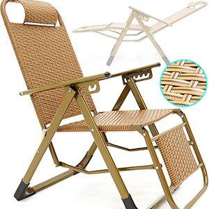 復古編織PPC雙面籐椅露營斜躺椅麻將椅折合椅摺合椅折疊椅摺疊椅涼蓆椅涼椅休閒椅扶手椅海灘沙灘椅C022-945⊙哪裡買⊙