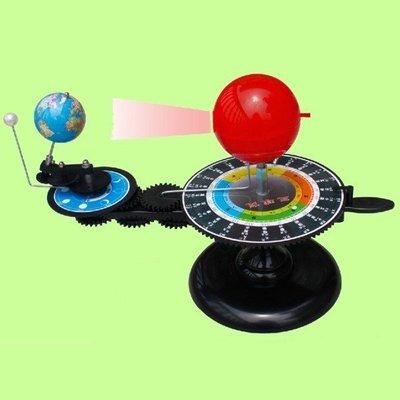 5Cgo【權宇】志誠ZC-SQY001科普教學三球儀地球儀天體運動儀日地月運行儀中小學地理教學實驗器材學生生日禮物 含稅