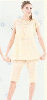☆╮十月美人╭☆只賣119元【9365】雙肩及衣身泛黃孕婦褲裝~粉