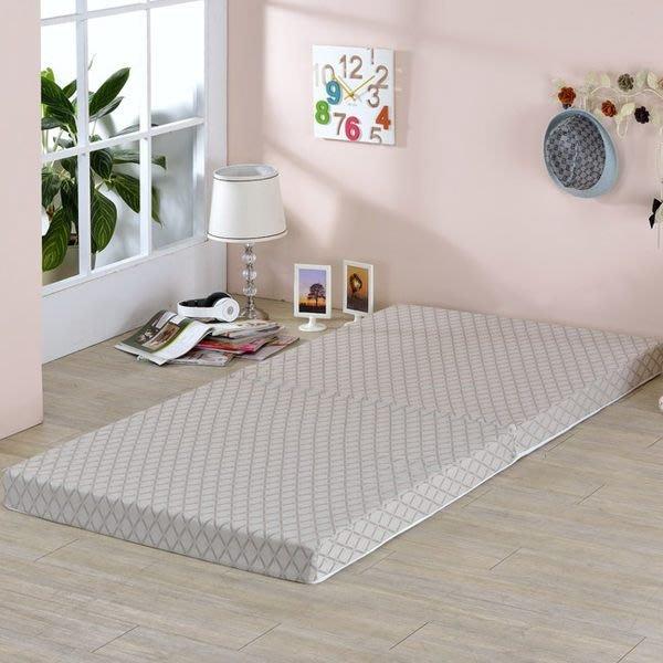 莫菲思 日式緹花8cm二折透氣單人床墊