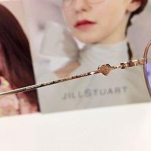 Jill Stuart 黑金色鈦金屬飛行員款眼鏡 雙槓設計的簡約線條質感 性感又率性的風格 亮眼自信 心型施華洛世奇水晶鑲崁鏡腳 JS70017