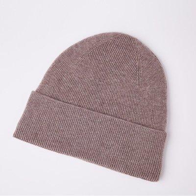 毛帽 羊毛針織帽-護耳純色百搭秋冬男帽子9色73wj2[獨家進口][米蘭精品]