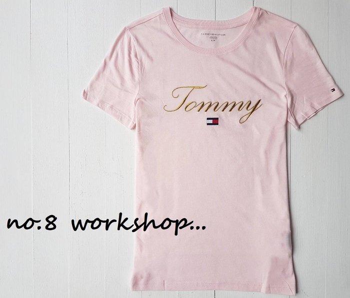 T☆【女生館】☆【TOMMY HILFIGER金線刺繡短袖T恤】☆【TOMG002L2】寬鬆版(XXS-XS-S)原價1399