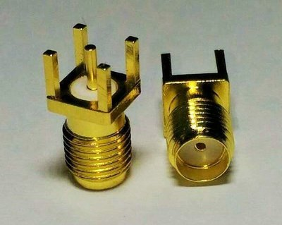 SMA-KE SMA  母頭正接直插焊板式母頭外螺內孔WIFI焊板接頭