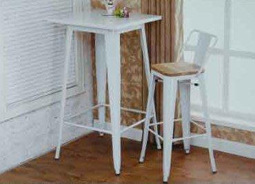【南洋風休閒傢俱】設計單椅系列 –美式高吧椅(鐵面)+吧桌 鐵板吧椅 復古美式吧椅 鐵藝復刻板吧椅 餐椅(523-4)