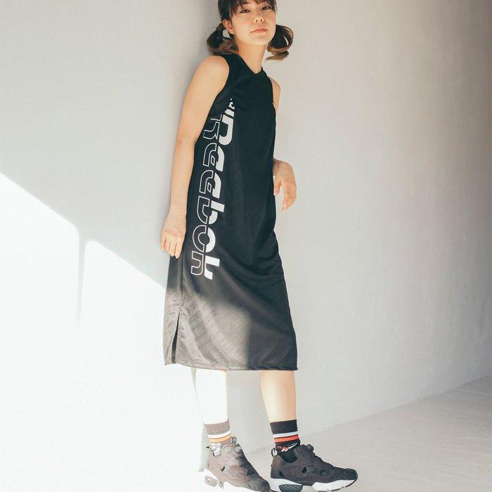 FOCAFOCA REEBOK MEET 無袖 長板短t DRESS 女款 洋裝 銳步 運動 黑色 FJ2717