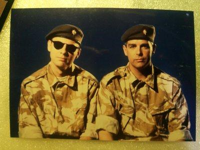 1991年寵物店男孩Pet Shop Boys DJ Culture單曲軍服團照 台灣EMI科藝百代宣傳照片 只有一張