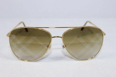 [安安美國精品]BURBERRY BE3072-1017/B3 格紋鏡片飛行員太陽眼鏡
