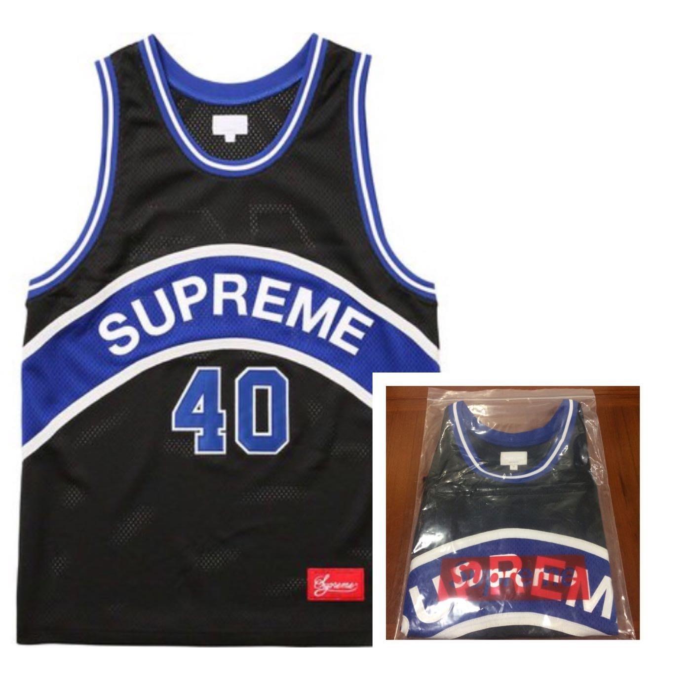 f8d5a1003 限時優惠Supreme SS17 Curve Basketball Jersey 籃球衣黑藍M號