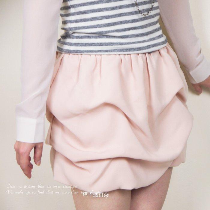 正韓 韓國連線 小公主澎澎裙短裙(黑、裸粉) ~惠衣。桔子瑪琪朵