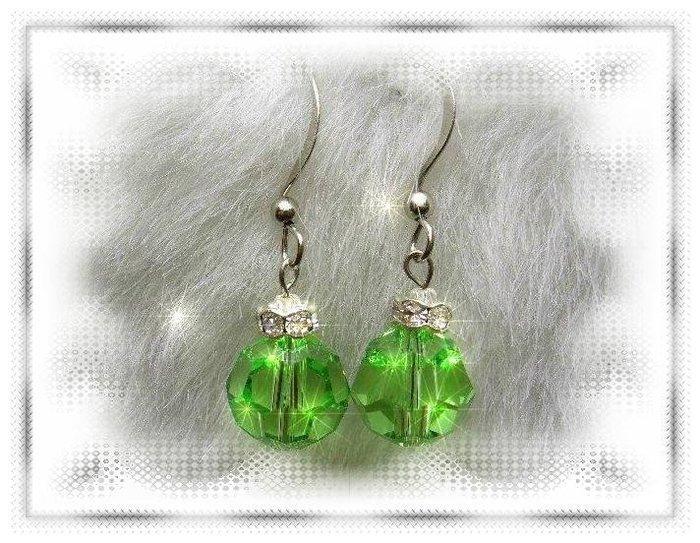 ※水晶玫瑰※ SWAROVSKI 10mm水晶珠 耳勾式耳環(DD326)~出清~三對免郵