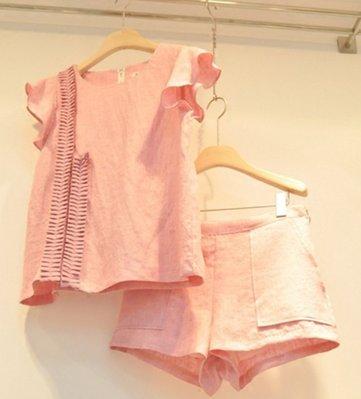 素色設計款休閒短褲套裝 Born again 【boa0044】