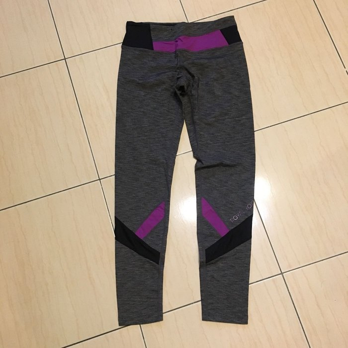 Yogamit 幾何拼接瑜珈長褲/有氧韻律褲-M號*撞色修飾腿部線條*台灣製造 Royal Yoga