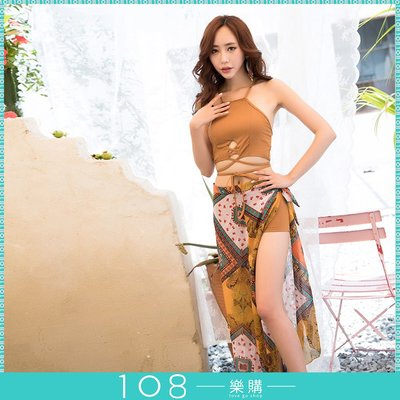 108樂購 韓式開叉 露腿 美背 比基尼 包覆性感泳裝 顯瘦 顯高 三件套 高貴而不貴 唯美精點 【BG603】