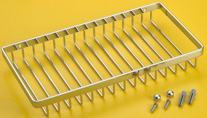 [勞倫斯衛浴生活商場] 不鏽鋼 單層方型置物架 L2625  收納 *淋浴拉門、浴櫃*
