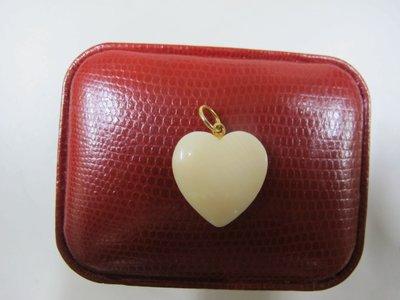 二手舖~NO.625 珍珠 貝殼 雙愛心牌 項鍊 心型