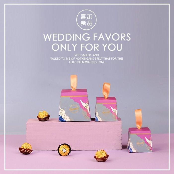 衣萊時尚-熱賣款  喜糖盒紙盒喜糖成品歐式創意婚慶用品糖果包裝盒 NG016