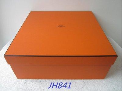 法國名牌【HERMES】愛馬仕 橘色 LOGO 掀蓋式 紙盒 紙箱 硬盒 可放毛毯/小皮包 (34.5x34.5x13.7) 保證正品/真品 現貨