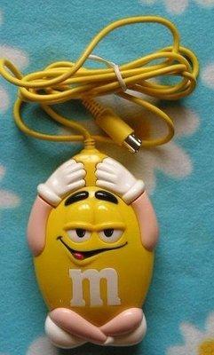 全新MM巧克力.MMS.m&m`s 原裝黃M造型滑鼠(特價499元)