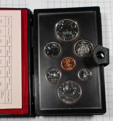 HC080 加拿大1978年 大英國協運動會貨幣組 含銀幣 盒套裝