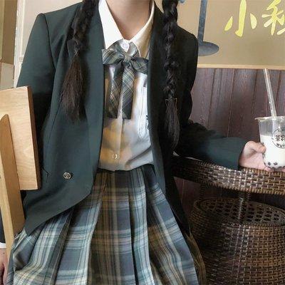 【JK制服套裝】正版JK夏季女基礎款短袖襯衫全套職業百褶格裙現貨JK制服套裝