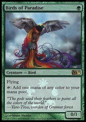 MTG 魔法風雲會 (M11) Birds of Paradise 天堂鳥 特閃 繁中