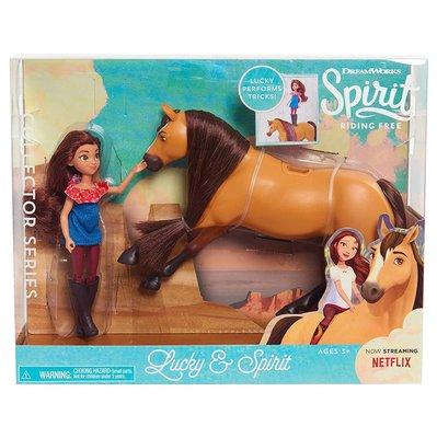 夢工廠動畫 Spirit Riding Free Lucky/Abigail/PRU 人偶+馬 遊戲組~請詢問價格/庫存