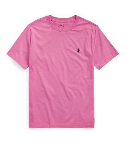 Ralph Lauren polo 小馬 素T 短袖 T恤 粉紅色 青年款 現貨
