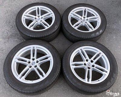 二手/中古鋁圈輪胎 原廠 保時捷 MACAN 19吋 5孔112 銀 (含胎) 倍耐力 防爆胎 MacanS Turbo