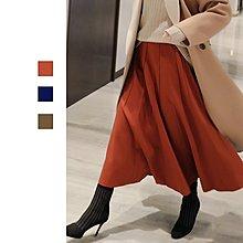 『 筱涵 日系美學衣飾 』穿出日雜通勤LADY感 耗料近3米垂感 壓褶工藝自然散擺A型長半身裙