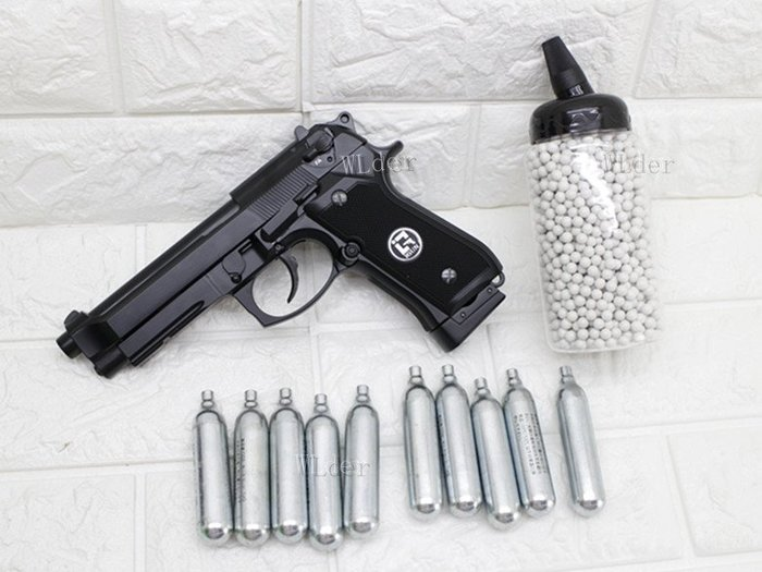 [01] iGUN 貝瑞塔 M9A1 CO2槍 連發版 MC + 12g CO2 鋼瓶 + 0.25g BB彈(BB槍