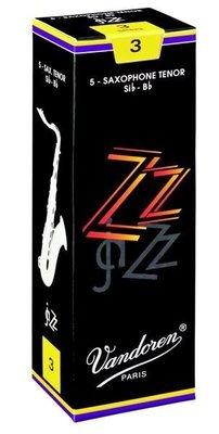§唐川音樂§【Vandoren ZZ Tenor Reeds 薩克斯風 次中音 ZZ 黑盒 竹片 5片裝】(法國)
