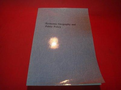 【愛悅二手書坊 19-12】Economic Geography and Public Policy(影本)