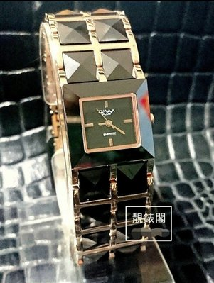 [靚錶閣]方型金字塔陶瓷鍊帶個性腕錶...