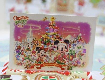 ~Dona日貨~ 迪士尼樂園限定 聖誕節米老鼠米奇米妮唐老鴨黛西奇奇蒂蒂高飛布魯托歡樂城堡 明信片 A23