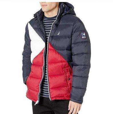 Nautica 男款 拼色鋪棉外套 L  950元