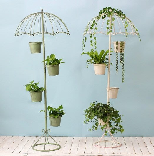 『新品上架$2290,免運』超美美式鄉村雨傘花架 庭園陽台室內花園擺設---墨綠色有現貨