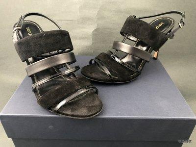 [我是寶琪] 林牧潔二手商品 Sergio rossi麂皮涼鞋