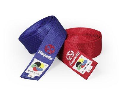 WKF 認證腰帶 Budo Belt HAYASHI (WKF approved)