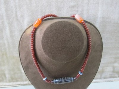 二手舖 NO.3709 天眼珠項鍊 老天珠項鍊 手珠 串珠 首飾飾品