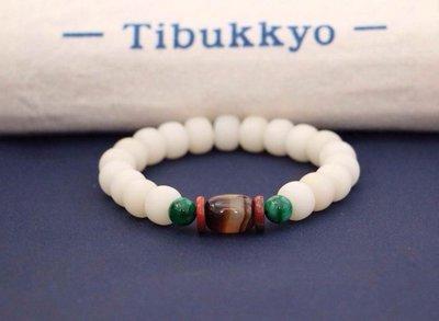Tibukkyo 現貨供應 白玉菩提根 11x8mm A+ 白玉菩提 纏絲玉髓 乾磨 白玉 手串 手珠 纏絲瑪瑙