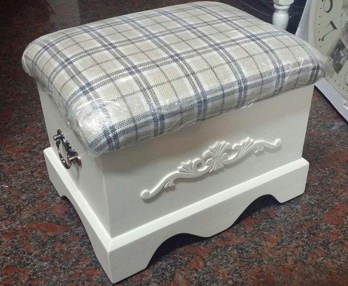 美生活館--全新鄉村 Zakka 古典 雜貨--- 掀蓋 寶背椅/收納椅/穿鞋椅/兒童椅--米格