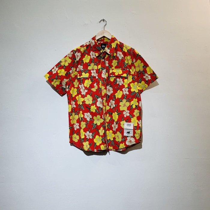 (Used) Stussy Wild Hawaii Shirt 花卉 夏威夷 印花 短袖 花襯衫 現貨