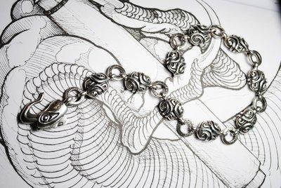 Bronze Souls/手工銀飾/手鍊/浮紋手鍊