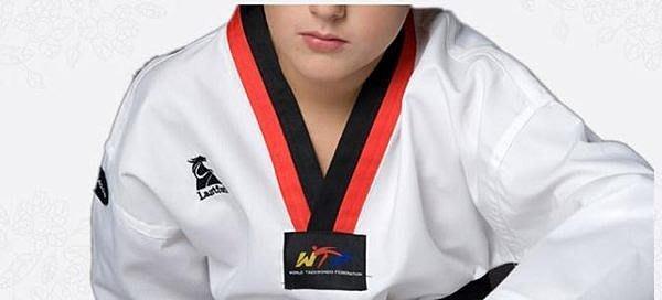 品名:兒童,青少年跆拳道服裝 〈黑/紅領〉