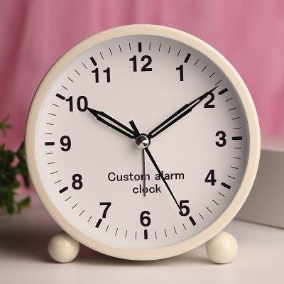 現貨/簡約金屬鬧鐘創意靜音夜光可愛兒童女學生床頭鬧鐘臥室小鐘錶定制54SP5RL/ 最低促銷價