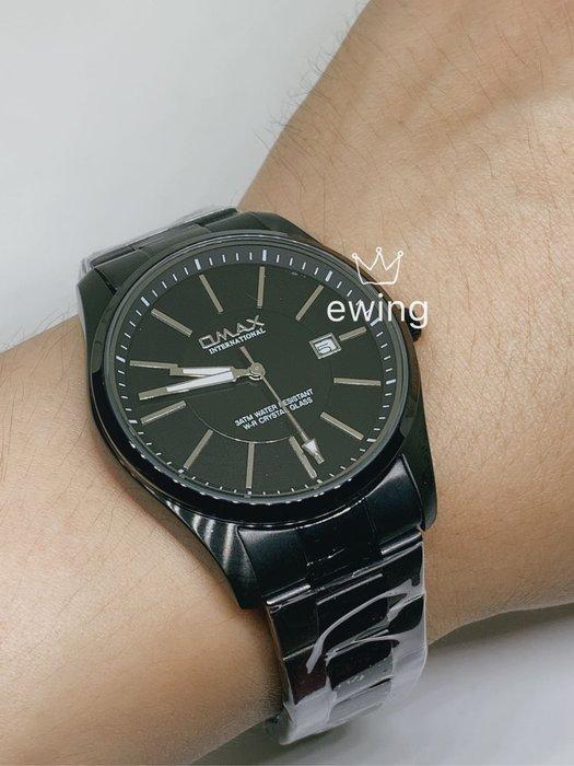 [靚錶閣]黑化高質感簡約石英錶/防水/夜光