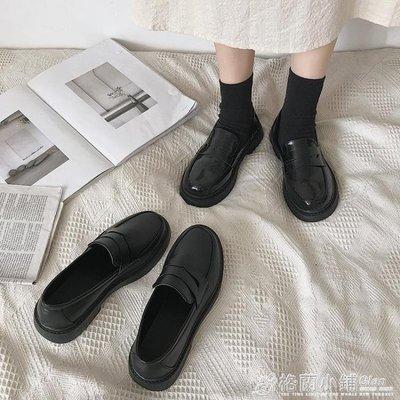 黑色軟妹小皮鞋女英倫風平底春秋季新款復古日系jk制服單鞋潮 雙十一爆款清出